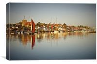 Thames Barge Cygnet leaving Maldon, Canvas Print