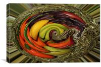 Fruit in a basket, Canvas Print