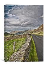 Cumbrian mountain road, Canvas Print