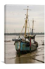 Old fishing boat Ranger, Canvas Print