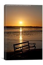 Sunrise seat, Canvas Print
