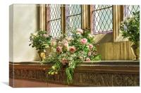 Floral Display, Canvas Print