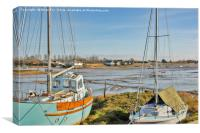Between the masts, Canvas Print