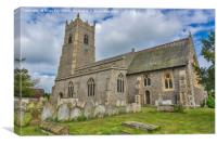 Garboldisham Church  Norfolk, Canvas Print