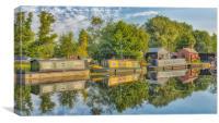 River Sunshine, Canvas Print