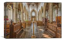 Norfolk Church View, Canvas Print