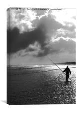 Lone Fisherman, Canvas Print