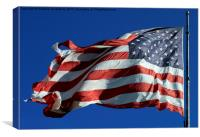 The national flag of the United States of America, Canvas Print