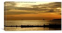 Sunrise At Blyth, Canvas Print