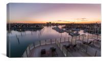 Sunrise over Southampton, Canvas Print