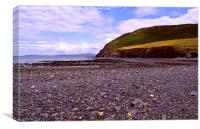 Coastal Landscape, Borth, Wales., Canvas Print
