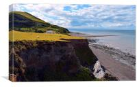 Coastal Views, Borth, Wales., Canvas Print