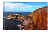 South Stack Lighthouse, Coastal View, Anglesey, Wa, Canvas Print