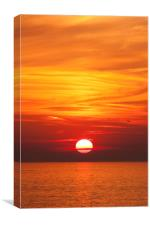 Red Seascape Sunset, Canvas Print