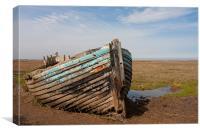 Old wreck on the sands, Canvas Print