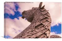 Helix Kelpies, Canvas Print