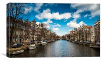 Amsterdam Scene Colour, Canvas Print