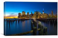 Manhattan Sunset, Canvas Print
