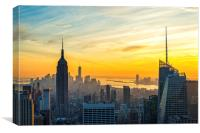 Rockerfeller Sunset, Canvas Print