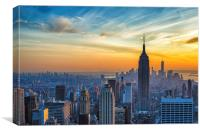 Empire State Sunset, Canvas Print
