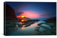 Dreamy Seascape sunset, Canvas Print