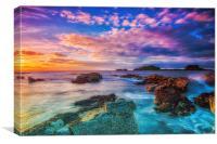 Golden rock Sunset, Canvas Print