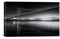 The Bridges at Sunset, Canvas Print