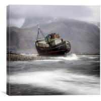 Run ashore.., Canvas Print