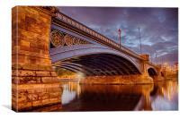 Trent Bridge Reflections, Canvas Print