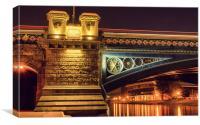 Trent Bridge Light Trails, Canvas Print