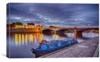 Trent Bridge at Blue Hour, Canvas Print