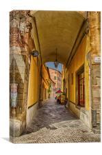 A Tuscan Street, Canvas Print