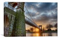 Wilford Bridge sunset, Canvas Print