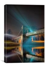 Wilford Suspension Bridge Reflections, Canvas Print