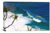 Rainbow in The Waves, Canvas Print