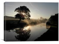 Canal Sunrise, Canvas Print