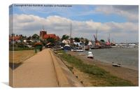 View of Maldon and Saint Mary The Virgin , Canvas Print