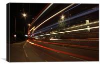London Buses at night, Canvas Print