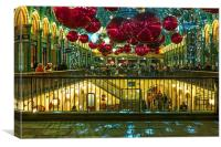 London Covent Garden - Christmas Decorations., Canvas Print