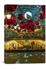 London Covent Garden - Christmas Lights & Decorati, Canvas Print