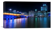 London Bridge and the City at Night, Canvas Print