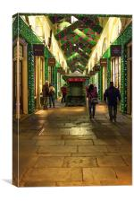 London Covent Garden with beautiful Christmas deco, Canvas Print