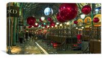 Christmas at Covent Garden, Canvas Print