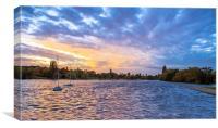 Dramatic Sky at Danson Park, Canvas Print