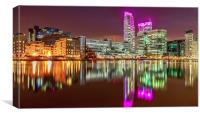 Pink Glow at Canary Wharf
