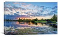 Sunset at Danson Park, Canvas Print