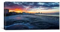 Dramatic Sunset on River Thames, Canvas Print