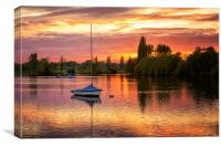 Dramatic Sunset at Danson Park, Canvas Print