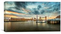 London Tower Bridge and the Shard, Canvas Print