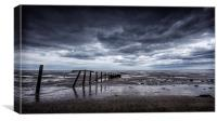 A moody day at the beach., Canvas Print